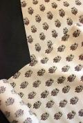 木版摺り更紗/着物地-紬地